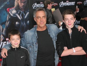 Photo of Titus Welliver & his  Son  Cora McBride