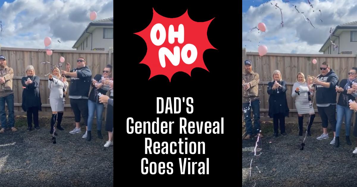 Aussie Dad Gender Reveal Party Reaction Viral TikTok