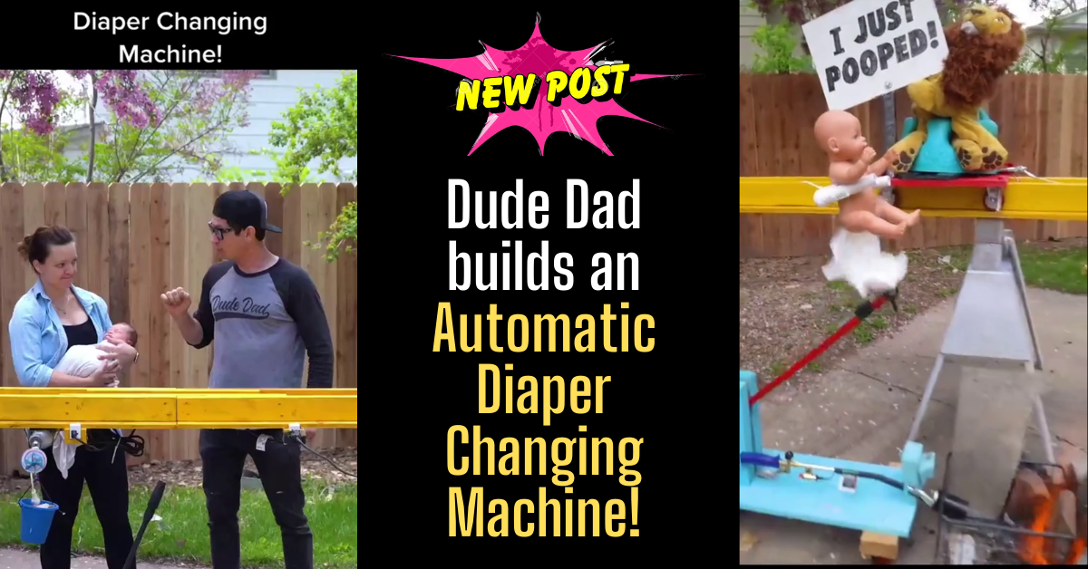 Dude Dad Automatic Diaper Changing Machine